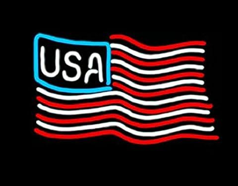 USA Flag Real Neon Sign 17