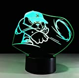 Helle bunte Note des Lichtes 3d führte Nachtlicht-Neuheit 3d geführte Kindertischlampen 7 Farbänderungs-Schreibtischlampe