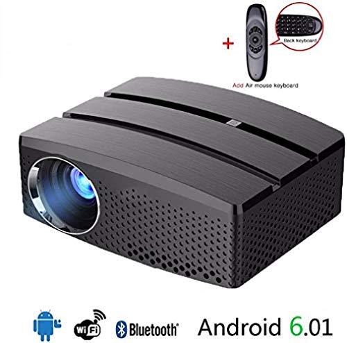 Mini tragbarer Projektor WiFi und Bluetooth Heimkino-Unterstützung 1080p 3D volles HD-Videokino mit System Android6.01, verbesserte Version
