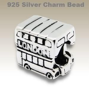 London Bus Charms Argent 925 pour Bracelets charms