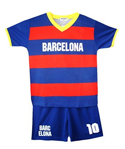Fußball Sommer Shorts Jungen neu Mädchen-Weste Kit Set Größe Alter 2-12 Jahre BNWT (Größe Kleidung 6 Jungen)