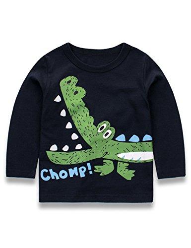 SECRET CHERISH Kinder Baby Jungen Langarmshirt Pullover Dinosaurier Baumwolle Top T-Shirt für Kinder Baby Jungen(1- 7 Jahre alt) (Dinosaurier-jungen-t-shirt)