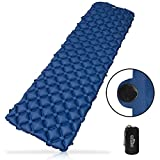 Outdoro aufblasbare Luftmatratze - Ultra-leicht, kleines Packmaß & faltbar - ideal für Camping & Outdoor Isomatte (blau)