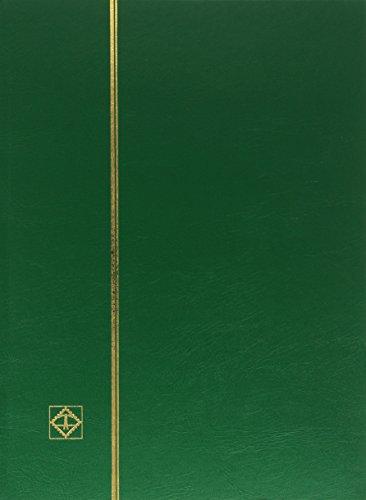 Preisvergleich Produktbild Briefmarken Einsteckbuch BASIC, 64 schwarze Seiten, Einband unwattiert in Grün, DIN A4
