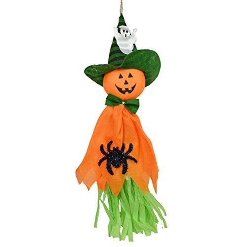 selig Hängenden Vogelscheuche Geist für Heimtextilien (Orange) (Geist Halloween Animatronics)