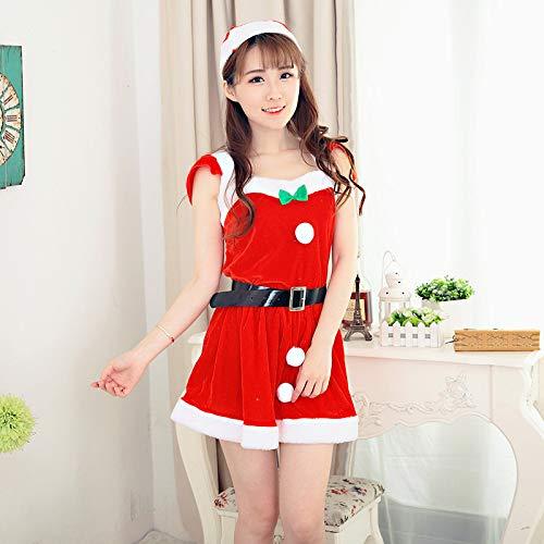 Yunfeng weihnachtsmann kostüm Damen Weihnachten Prinzessin Kostüm Kleid Anime Bühnenperformance Kleid weibliche Millionen heilige Anzug Kostüm Erwachsene Weihnachtsfeier Cosplay - Weiblichen Heiligen Kostüm