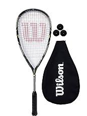 La raqueta Wilson ® Force 155 Squash es excelente para el jugador que busca sensación sólida y comodidad superior.