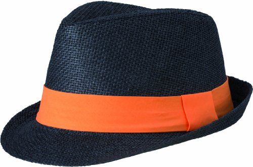Myrtle Beach Hut Street Style, black/orange, L/XL, MB6564 blor Damen Hut