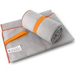 Asciugamano in microfibra Palestra Golf Fitness Spiaggia Nuoto Sport Viaggi Escursionismo in campeggio Yoga Pilates Compact Leggero Super assorbente con grande 140 x 80 cm di ifrigga