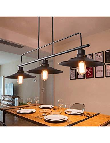 Eisen Industrie Kronleuchter 3 Lichter für Restaurant Beleuchtung Retro Club Bar Loft Pendelleuchten 3x Kreative Topf Deckel Abdeckung Pendelleuchte Schwarz E27 -
