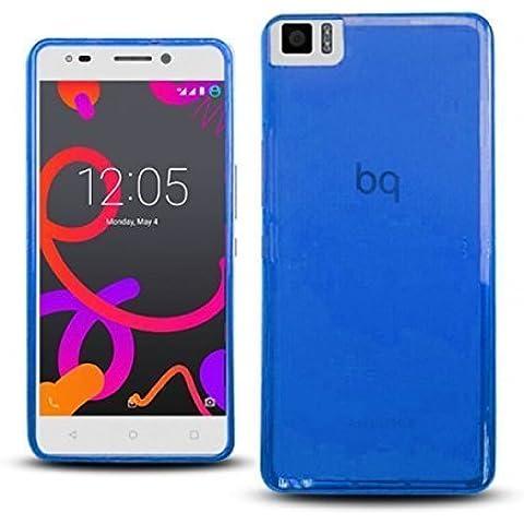 TBOC® Funda de Gel TPU Azul para bq Aquaris A4.5 de Silicona Ultrafina y Flexible
