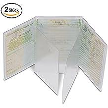 Kfz-Schein Hülle von Nekava ist die perfekte Ausweishülle für Ihren Zulassungsschein. Die transparente Schutzhülle aus hochwertigem PVC schützt Ihren Schein vor Schmutz, Staub und Wasser. 2 Stück