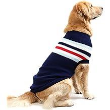 siyang ropa de perro ropa cachorro de punto jersey de lana de invierno cálido abrigo para perro de tamaño pequeño, mediano y grande