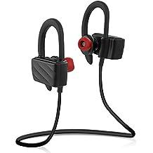Auriculares Bluetooth Auricular Inalámbrico In-ear Estéreo Anti-sudor de Deporte Correr Manos Libres Cancelación del Ruido Sweatproof con Micrófono para iPhone, Android y Otros Dispositivos- Milool