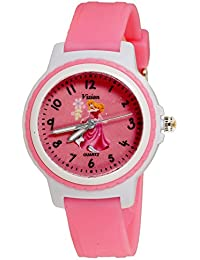 Vizion Analog Pink Dial (CINDERELLA-In Pink Dress) Cartoon Character Watch For Kids-V-8829-5-3