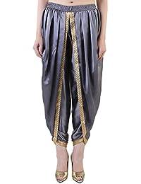 Khazana Basics Grey Satin Dhoti Pant, Patiala Dhoti Salwar for Women, Girls (JTDHS6201, Grey)