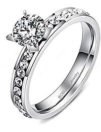 0217783643a7 BOBIJOO Jewelry - Anillo De Mujer Solitaria Strass Óxido De Circonio