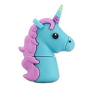 32GB Unicornio Azul Modelo USB