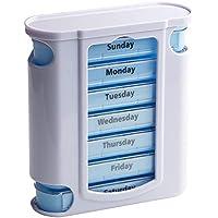 Preisvergleich für Queta Pillendose 7 tage 4 fächer pillenbox woche Tablettenbox tabletten wochenbox Tablettendose medikamentenbox...