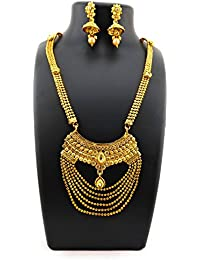 Trendest Fashion Jewellery Gold Plated Necklace Set For Women - B078R812SK