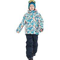 Gimitunus Chaqueta de esquí con Capucha Impermeable para el Viento a Prueba de Viento Impermeable para niña con Pantalones, 2 pzs (Color : Pink+Black, tamaño : 158/164)
