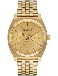 Nixon Damen-Armbanduhr Time Teller Deluxe Analog Quarz Edelstahl beschichtet A922502-00
