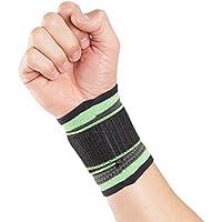 Fascia per polso protettiva e traspirante Actesso per uso sportivo (Grande, Di colore verde)- Supporto per slogature distorsioni o lesioni sportive