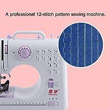 Escritorio Portátil Hilo doble Velocidad doble 12 Puntadas preestablecidas Mini máquina de coser doméstica 505A Prensatelas