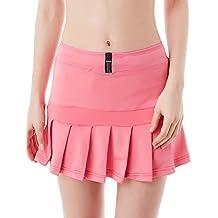 Jimmy Design - Minifalda plisada para mujer, con pantalones cortos integrados