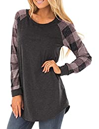 Preisvergleich für PAOLIAN Damen Langarmshirt Lose Langarm Sweatshirt Pullover Tops Bluse T-Shirt Oberteil
