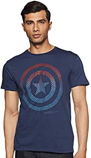 Avengers by Free Authority Men's Printed Regular Fit T-S