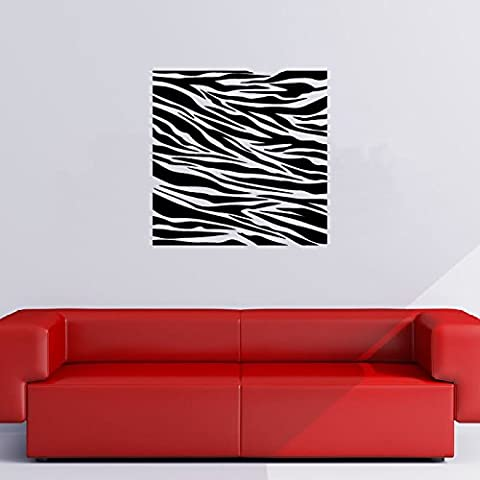 El estampado de zebra Square Animal Print patrones decorativos Etiqueta de la pared Inicio Arte Adhesivos disponible en 5 tamaños y 25 colores Extragrande Marrón