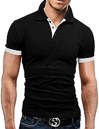 MERISH Polo Shirt Homme Slim Fit Conception à deux tons casual moderne et chic Modell 23