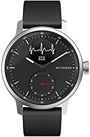 Withings Scanwatch 42 mm Nero, Hybrid Smart Watch with ECG, Heart Rate Sensor And Oximeter, SpO2, Sleep Tracki