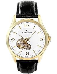 Continuum Herren-Armbanduhr Automatik Analog Leder Schwarz - C15H29