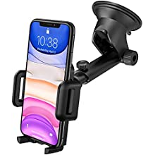 Car Phone Holder, Mpow Dashboard Windscreen Car Phone Mount, Universal Car Cradle with One Button Release&Strong Sticky Gel Pad for iPhone 11 Pro Max 11 Pro XS Max XS Xr X 8 7 Plus, Galaxy, HTC, etc