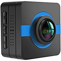 matecam x1 auto Dash Cam Sport Action Camera Wifi 4 K -HI 16 MP Sony IMX206 Full HD 1080P Gyro anti shake Sport DV accessori Kits per bicicletta, moto immersioni nuoto ecc., himmelblau, 42x42x26mm