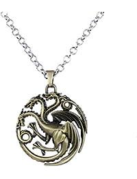181136823d76 Lureme Juego de Tronos Inspirado Targaryen Colgante Traje Collar (nl005382)