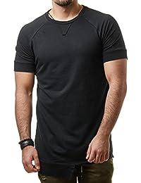 VIP Clothing Herren T-Shirt Long Oversized Shirt Basic Unifarben 1287