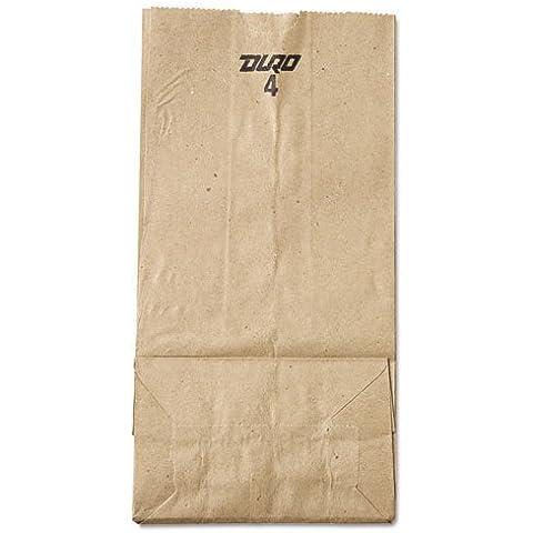 General 4# Paper Bag, 30-Pound Basis Weight, Brown Kraft, 5 x 3.33 x 9-3/4, 500-Bundle - Includes 500 paper bags per bundle. by