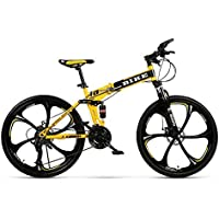 Novokart-Sports Pliables/vélo de Montagne 24/26 Pouces 6 Roue de Coupe, Jaune