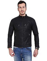 Derbenny Black Pu Leather Jacket For Men