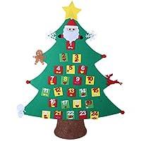 TOYMYTOY DIY Weihnachtsbaum-Kalender, Weihnachtskalender Home Office Dekorationen hängen