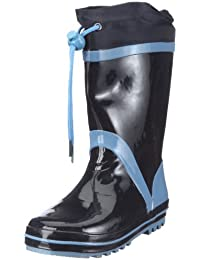 Playshoes Boys Wellies Basic Lined Wellington Boots