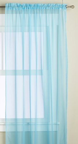 Editex Home Textiles Monique Sheer Window Panel, 55 by 63-Inch, Aqua by Editex Home Textiles -