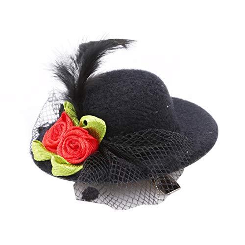 VWH Mini Hut Stil Kopf Haarspange Party Decor Zubehör Halloween Geschenk(schwarz)