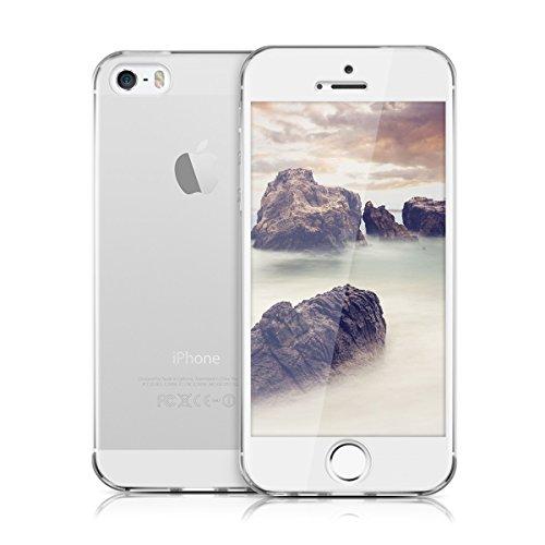 kwmobile Hülle für Apple iPhone SE / 5 / 5S - Full Body TPU Silikon Crystal Case Transparent - Komplett Schutzhülle Cover in Transparent .Transparent