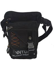 Innturt nailon, bolsa de pierna táctica, bolsa bandolera resistente al agua, Medium-Black