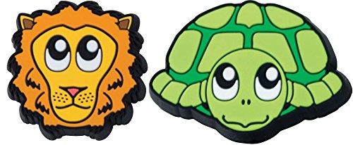 Gamma Schlägerzubehör Zoodamp 2er Schildkröte Löwe Vibrationsdämpfer, Mehrfarbig, S (Gamma-schläger)