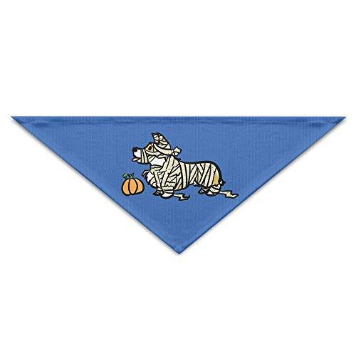 Rghkjlp Halloween-Corgi-Kürbis-Baby-Haustier-Dreieck-Kopftücher-Hundeschalwelpen-Dreieck